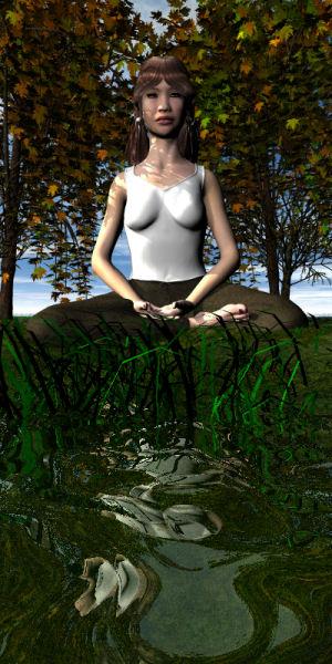 meditation abstract 4 render