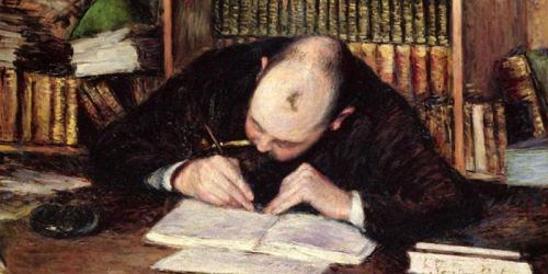man writing - gustave caillebot - 1885