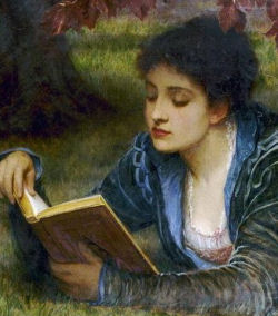 girl reading charles-edward-perugini