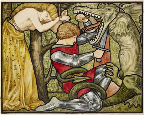 George and the Dragon  - Rosa Corder D G Rossetti