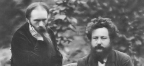 Burne Jones and WIlliam Morris 1874