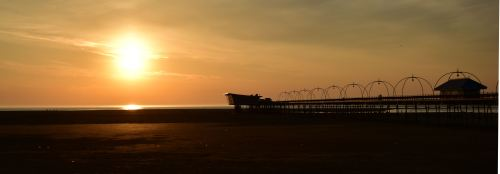 southport pier sunset letterbox